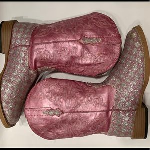 Girls Size 2 Roper Boots square toe Pink